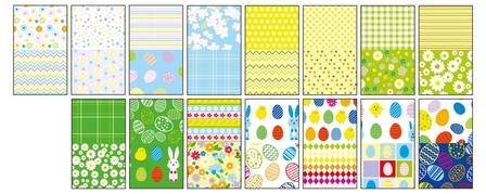 Blok z motywami SPRING, 80g/m2, A4, 15 ark, 30 motyw, Happy Color (2)