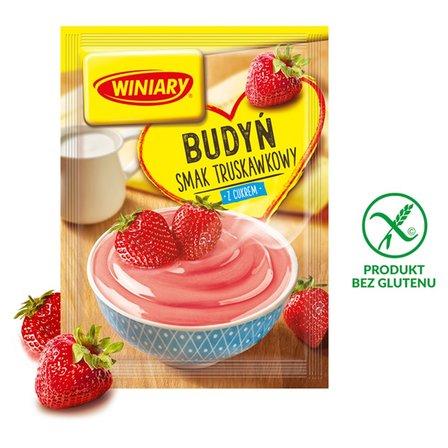 Winiary Budyń z cukrem smak truskawkowy 60g (1)