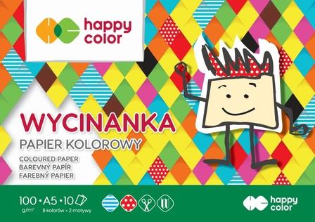 Blok Wycinanka, A5 10 ark, 100 g, Happy Color (1)