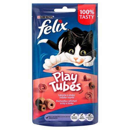 Felix Play Tubes Łakocie o smaku indyka i szynki 50g (1)