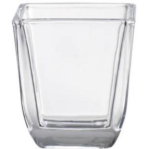 BOLSIUS Świecznik szklany do wkładek kwadrat. przezroczysty (65x58mm) (1)