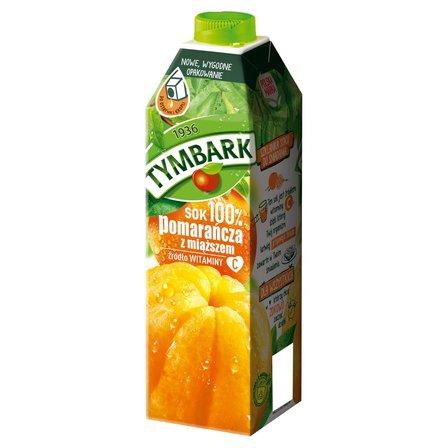 Tymbark Sok 100% pomarańcza z miąższem 1 l (1)