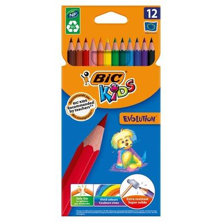 BiC Kids Evolution Kredki 12 kolorów 1op. (1)