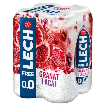 Lech Free Piwo bezalkoholowe granat i acai 4x500ml (1)