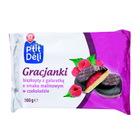 Wiodąca Marka Gracjanki biszkopty z galaretką o smaku malinowym w czekoladzie 300g (1)